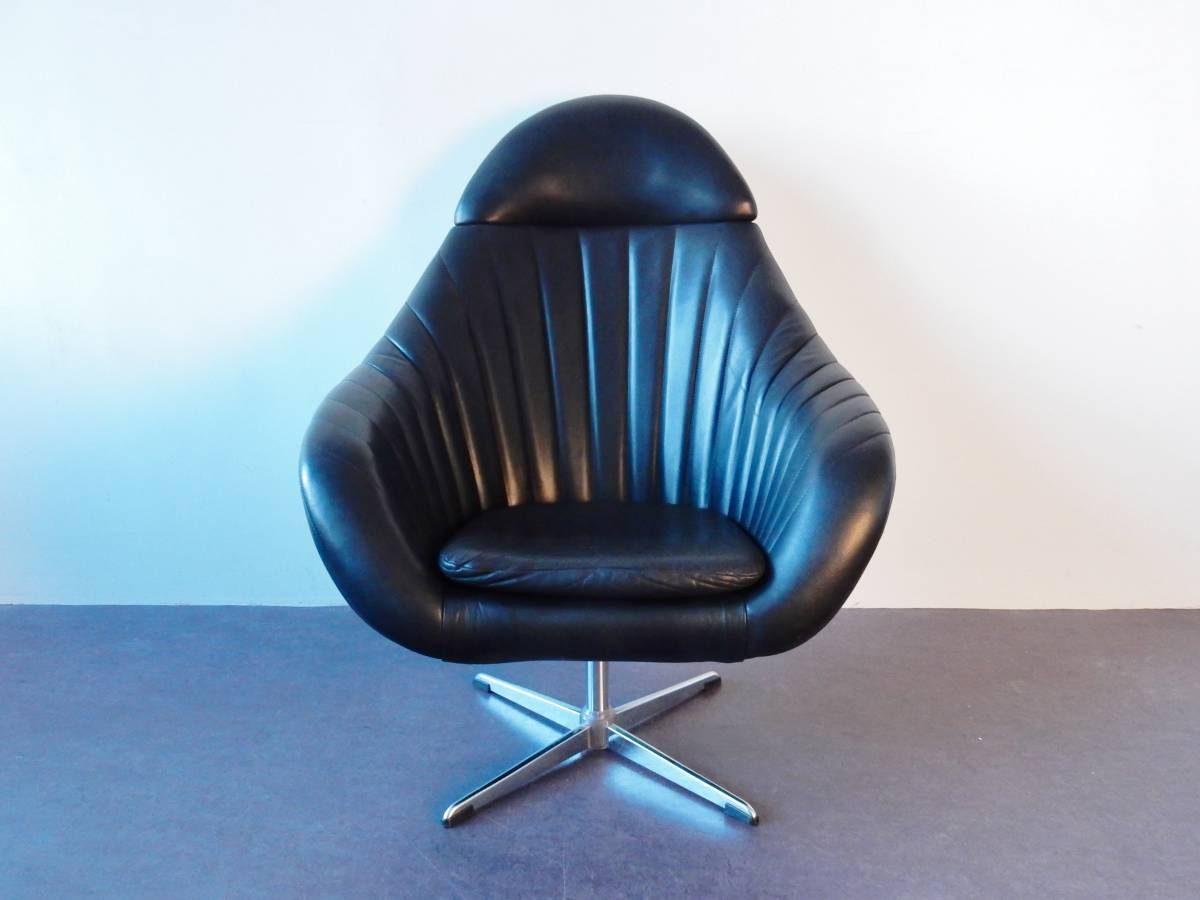 Leather Upholstered Lounge Black Leather Upholstered Lounge Chair Netherlands 1970