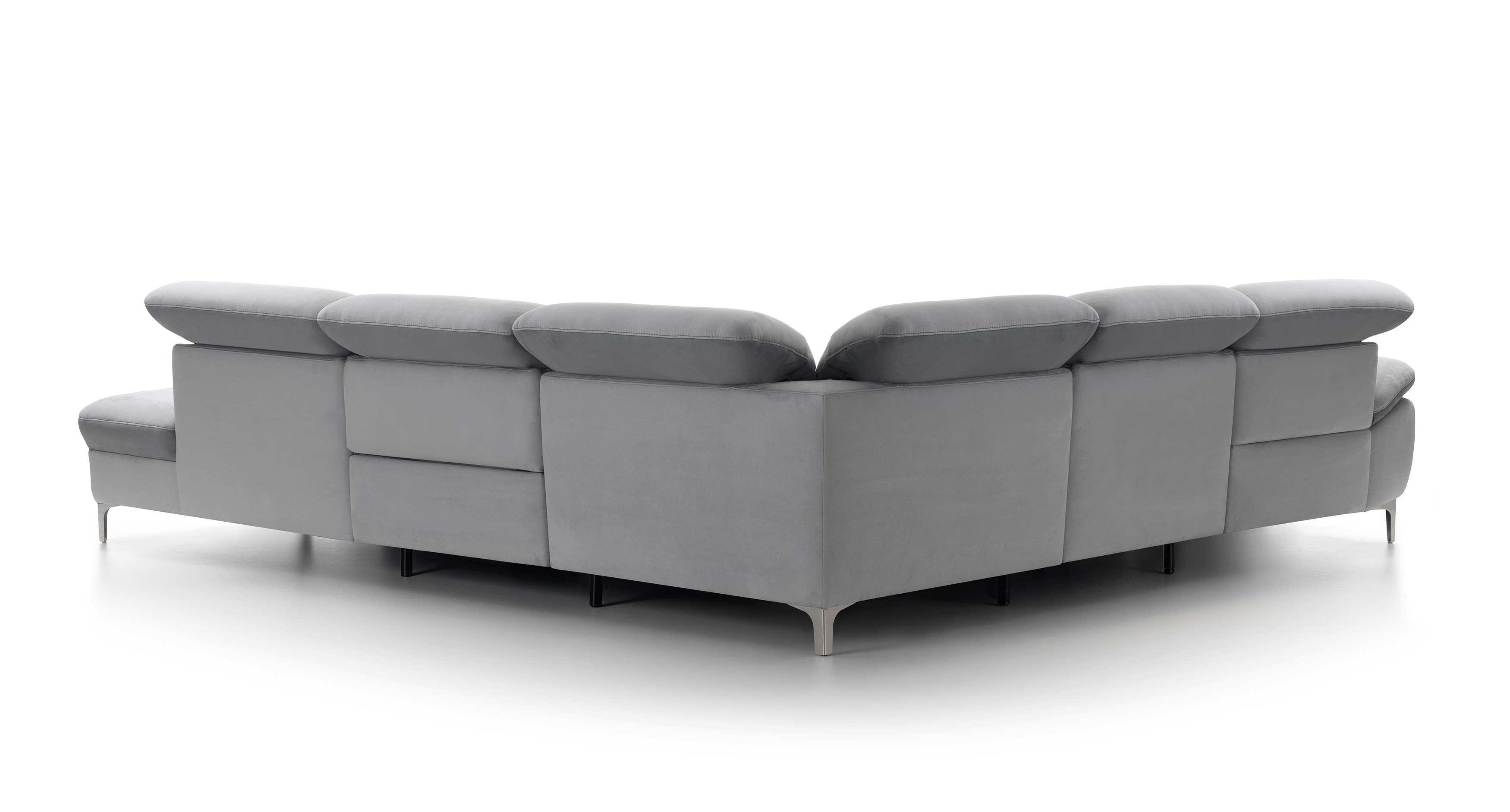Chaise Aladin Daphne Leather Sectional By Rom Belgium At Nova Interiors