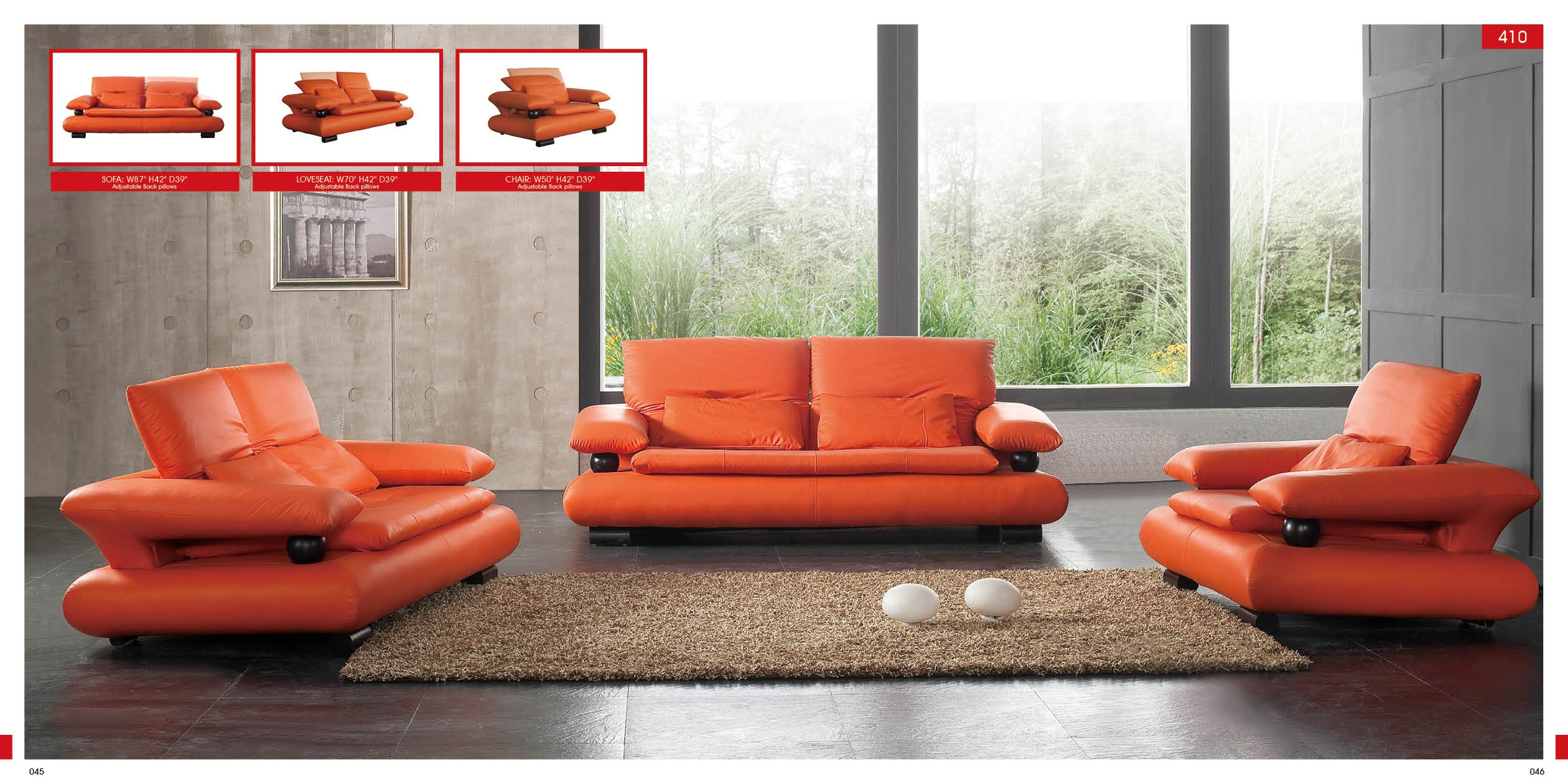 Contemporary Furniture Montreal 410 Sofa By Esf Buy From Nova Interiors Contemporary