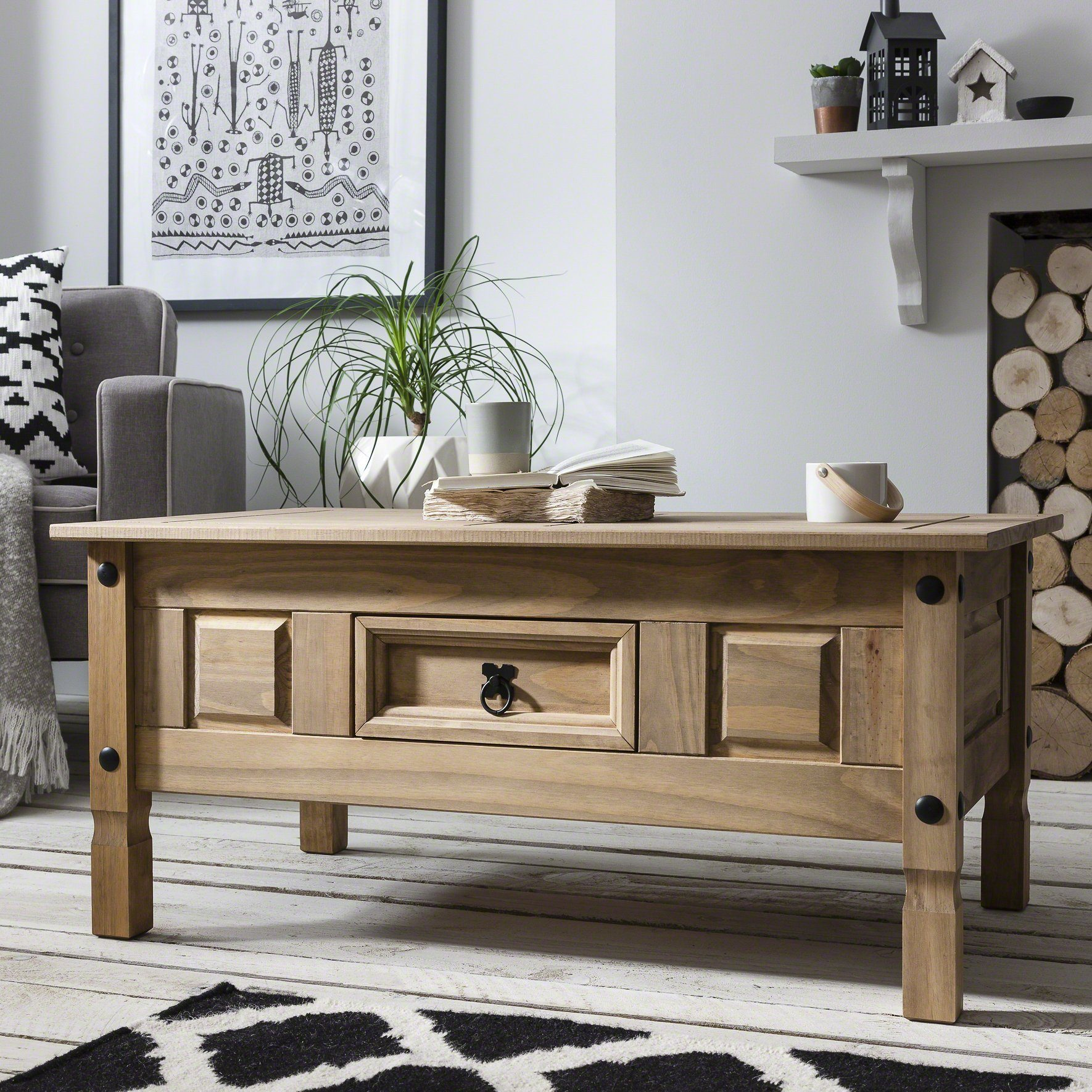 Couchtisch Klassisch Holz Classic Wood Corona Coffee Table With Storage