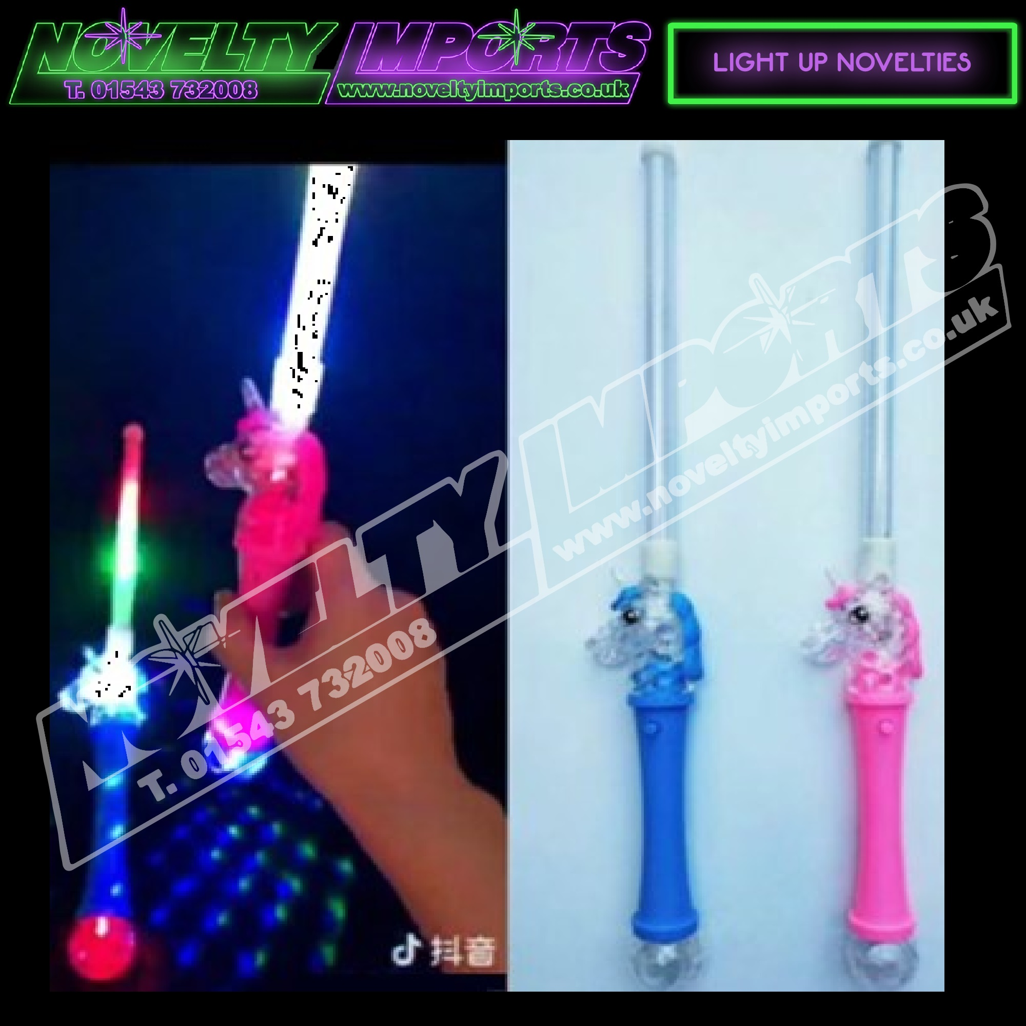 Wand Led Flashing Led Unicorn Glow Stick Wand From Only 1