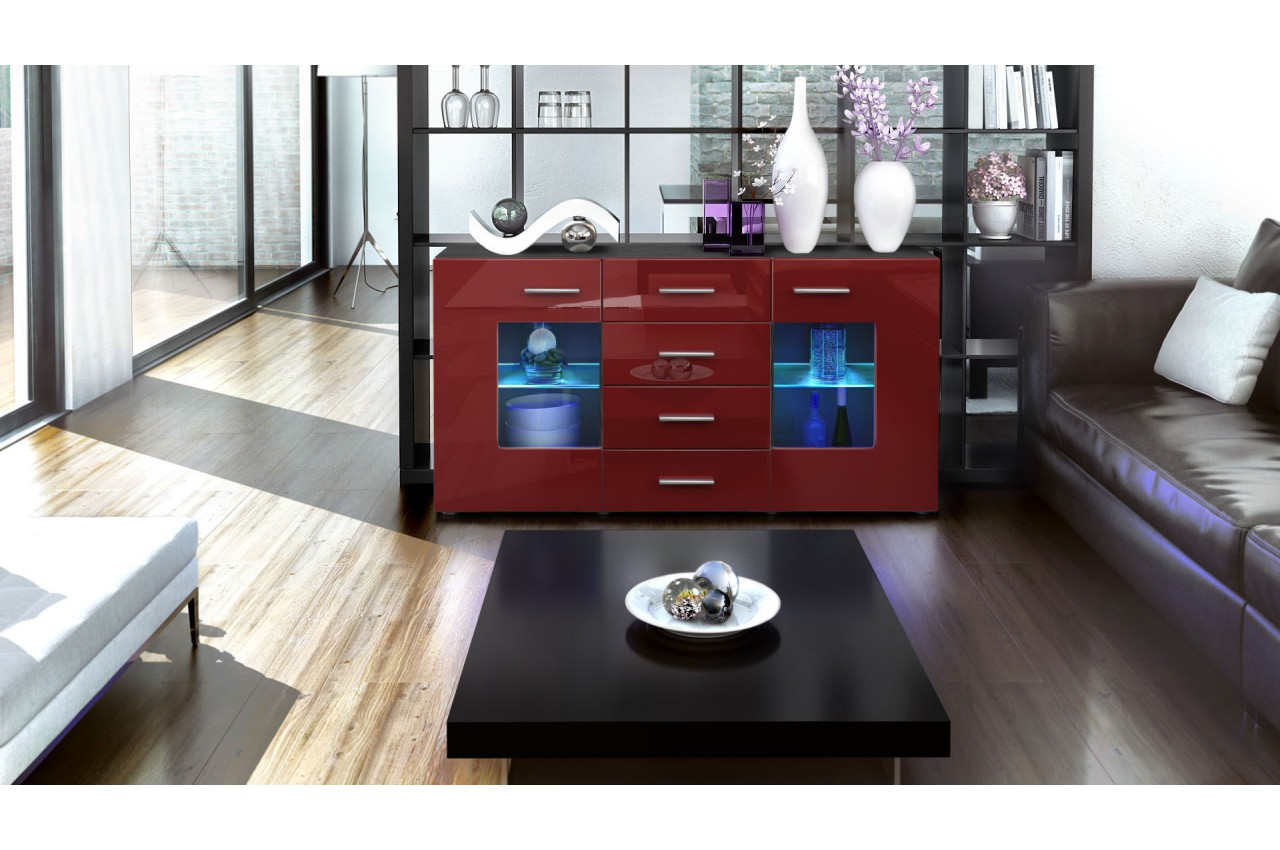 Buffet Design Noir Buffet Design Noir Portes En Verre Pour Buffet And Bahut