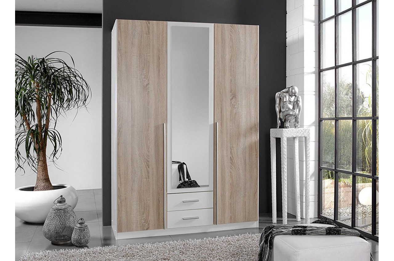 Armoire Dressing Blanche Armoire Penderie Chêne And Blanche Pas Cher Pour Chambre Adulte