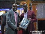 Junior Murray receives award from Dr Anthony Bridgeman of the GBSS Alumni-NY