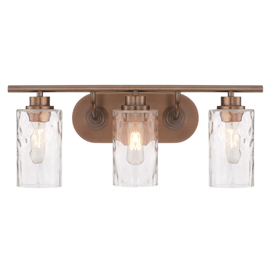 Designers Fountain Lighting Designers Fountain Gramercy Park 3 Light Bath Bar In Old Satin Brass With Blown Hammered