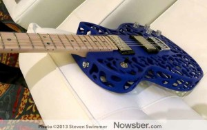 Guitar with 3D printed Body in Cubify booth at CES