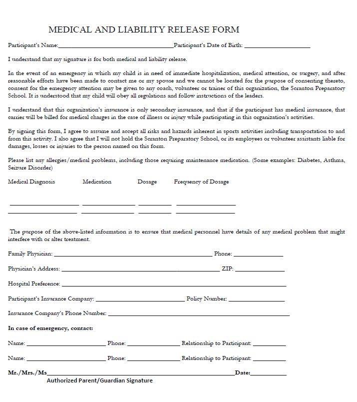 General Liability Release Form Liability Release Form - financial release form
