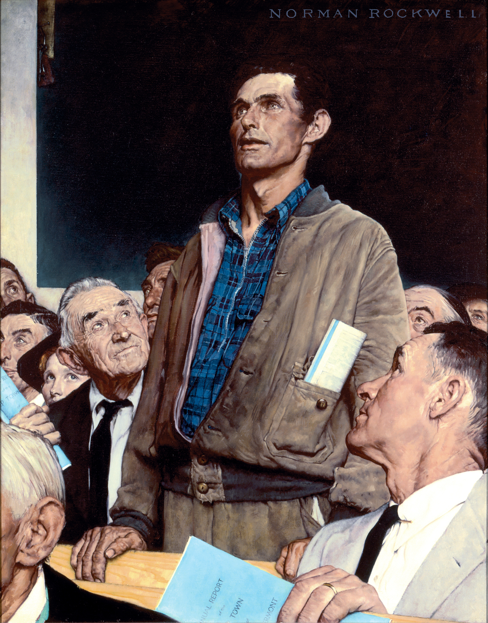 Hat Stand Freedom Collections Four Freedoms Norman Rockwell Museum The Home For
