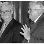 Former Speakers Newt Gingrich (R-Ga., left) and Dennis Hastert (R-Ill.) both made campaign pledges to support roll-call votes on forced-dues repeal, but blocked action on such legislation when Congress was in session.