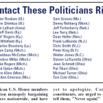 Please contact these politicians