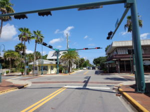 The New Smyrna Beach version of a busy intersection.