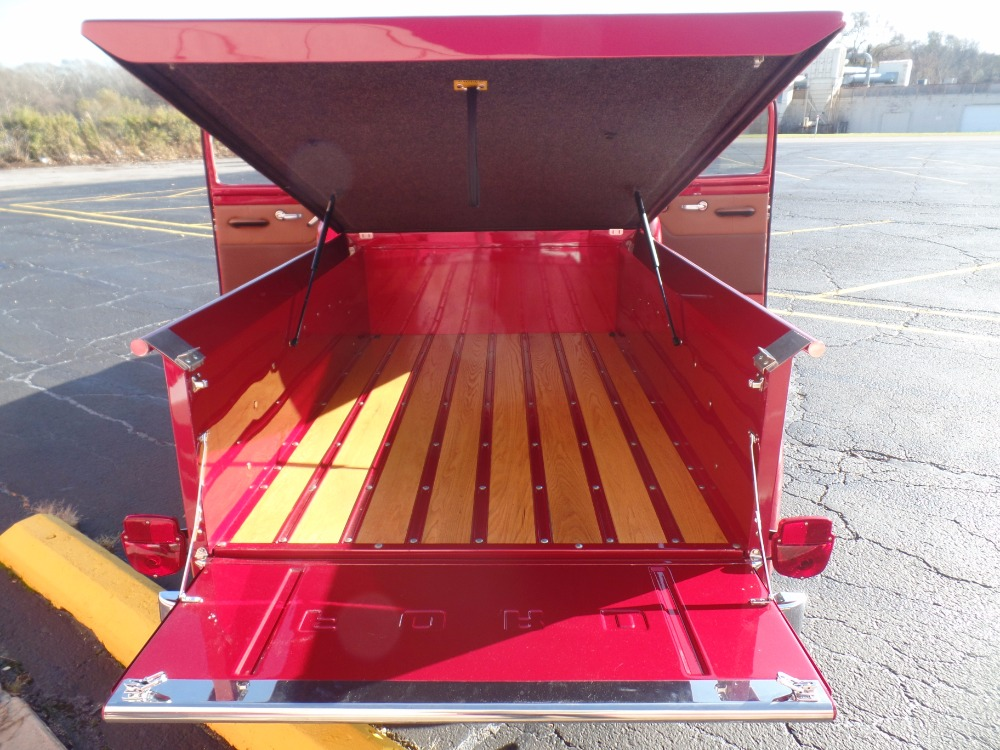Radiator Cover Bench 1953 Ford Pickup F100-sweet Inferno Red Pickup With Custom