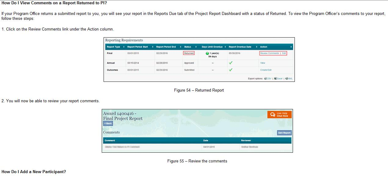 Researchgov Update Returned Project Reports \u2013 DEBrief - research project report