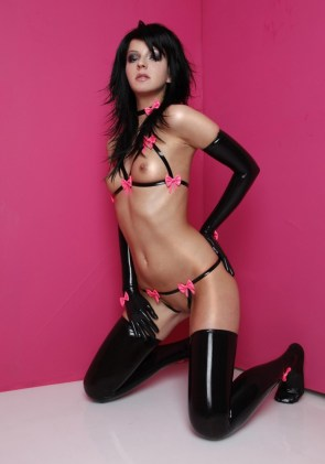 pink ribbons and latex