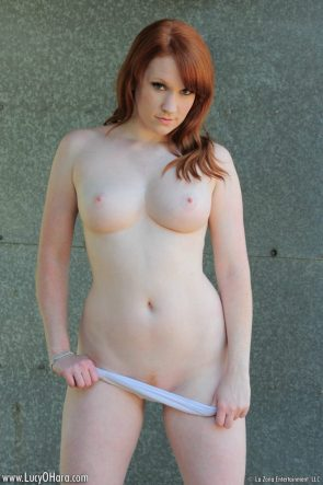 Lucy O'Hara – pulling down her white cotton panties