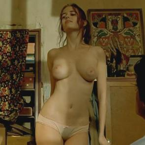 Eva Green popping her hip while topless