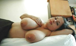 large breasts on her side