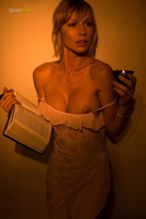 reading by candle light