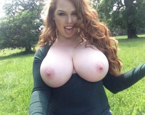 red head with massive tits