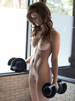 working out while nude
