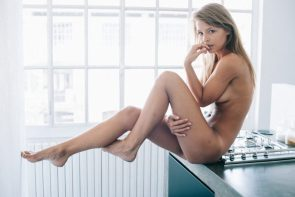 Marisa Papen nude in the kitchen
