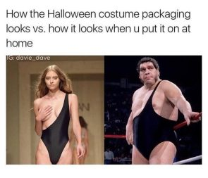 how the costume looks at home