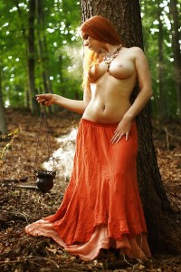 topless on a tree
