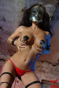 woman in the metal mask
