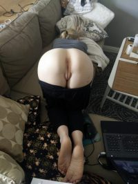 ass up on the couch