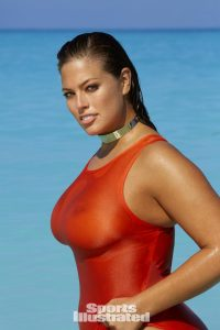 Ashley Graham in a see through swimsuit