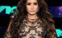 Demi Lovato in a see through top