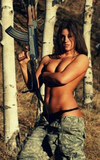 Busty in Camo