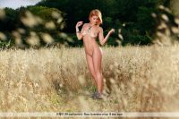 Dina P in golden field