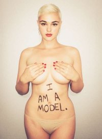 Stefania Ferrario is a model