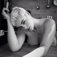 Stefania Ferrario pressed in black and white