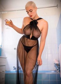 Stefania Ferrario see through dresss
