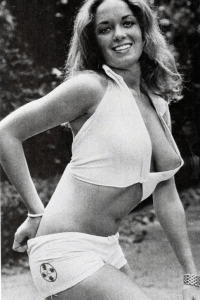 catherine bach in black and white
