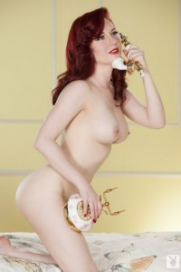 redhead on a telephone