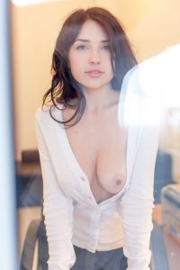 Niemira with one boob out