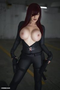 Veronika Black NSFW Black Widow Cosplay