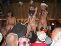 nude cowgirls on the bar