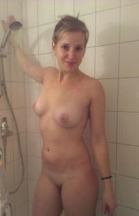 auntie in shower