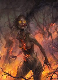 the burning of the forest gods