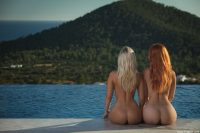 two butts and a lake