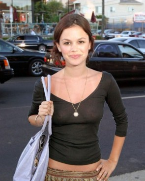 rachel bilson see through shirt