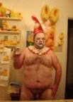 nude clown