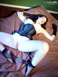 Black Stockings Black Corset