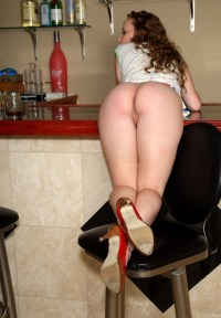 Bent over the bar