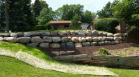 Block, natural stone or boulder wall retaining walls | NS ...
