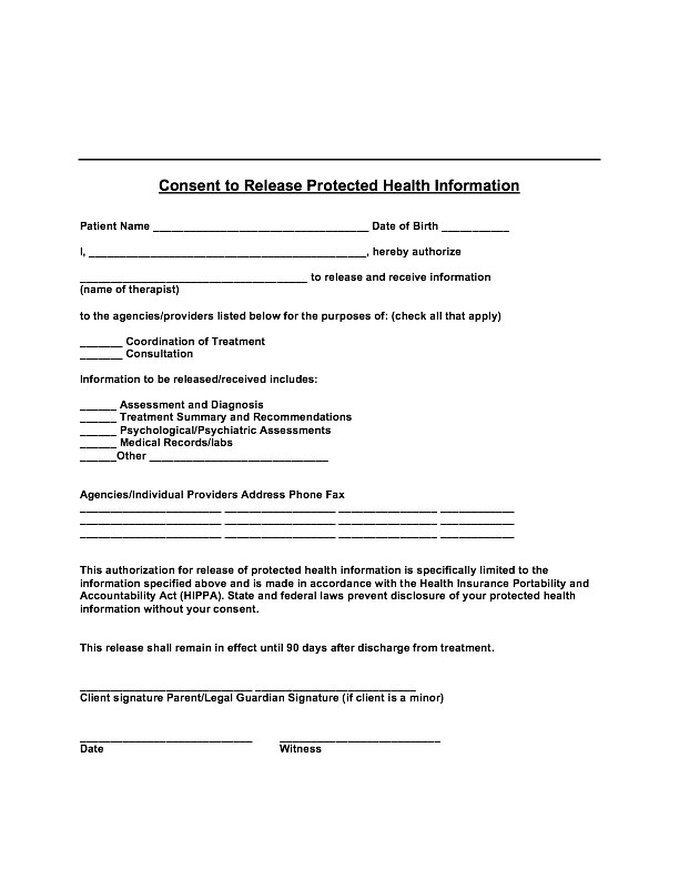Psychotherapy Forms - Nst Counseling